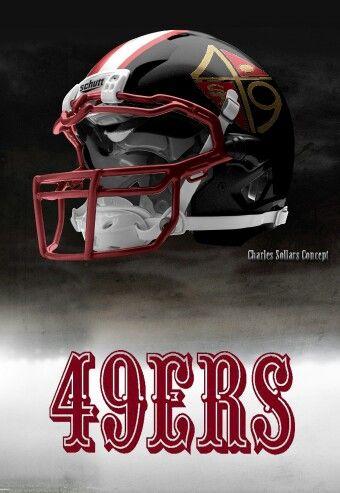 San Francisco 49ers helmet Charles Sollars concept