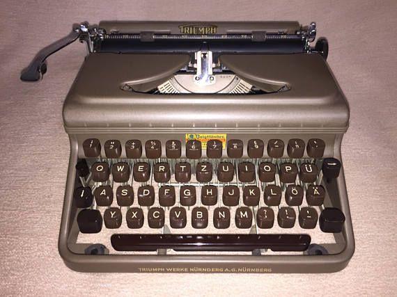 Triunfo de la máquina de escribir portátil Vintage Durabel