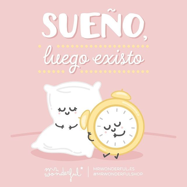 Mientras soñemos, que nadie nos saque de la cama. ¡Feliz domingo! #mrwonderfulshop #felizdomingo  I dream therefore I am. Let no-one try to get us out of bed today.