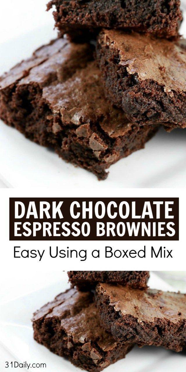 Quick Fix: Dark Chocolate Espresso Brownies   31Daily.com