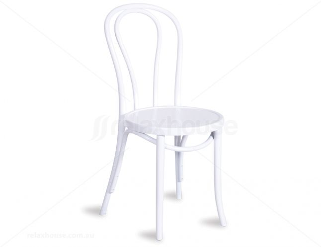 White Thonet Bentwood Dining Chair