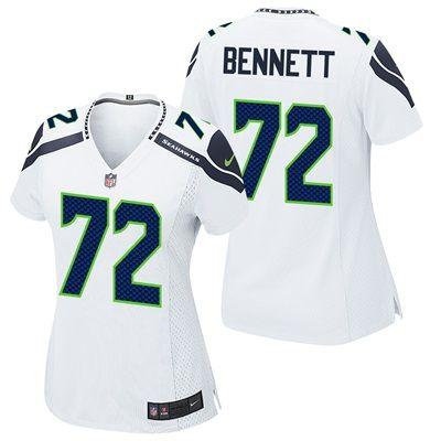 Seattle Seahawks Road Game Jersey - Michael Bennett - Womens: Seattle Seahawks Road Game Jersey - Michael Bennett - Women's Celebrate your…