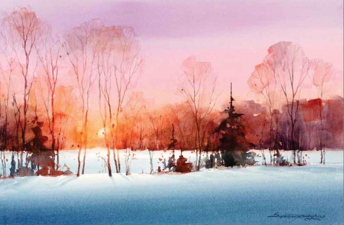 Free Downloadable Watercolor Landscape Tutorials: Rivets, Light & More
