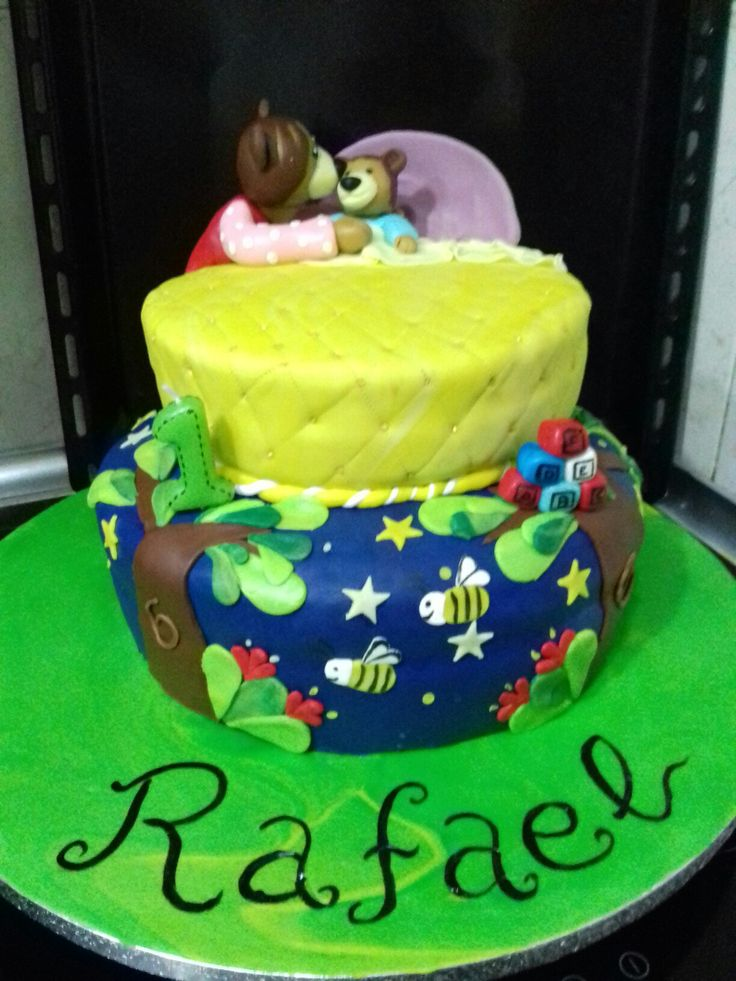 Good Night Teddy Bear cake