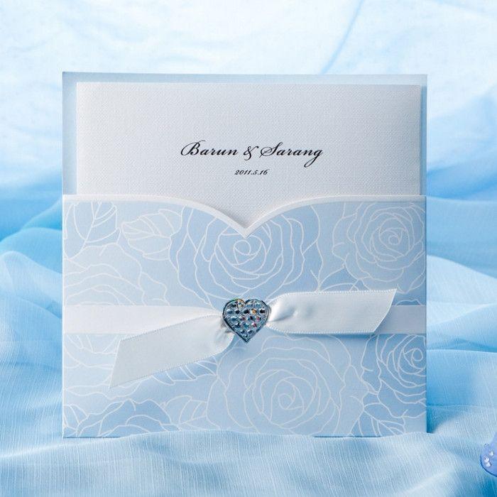 silk box wedding invitations indian%0A Blue Wedding Invitation Designs  u     www