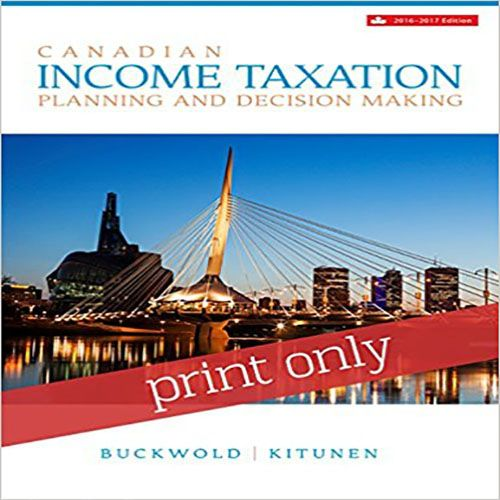 Canadian Income Taxation Canadian 19th Edition Buckwold And