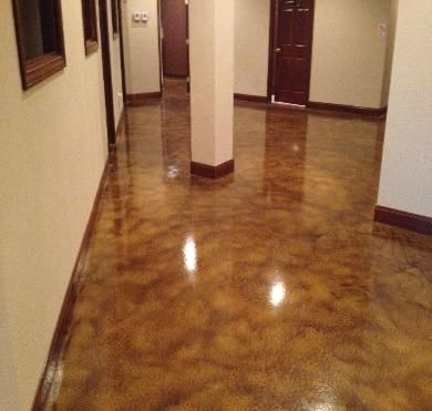Red stained concrete floors dallas fort worth texas for 100 floors floor 89