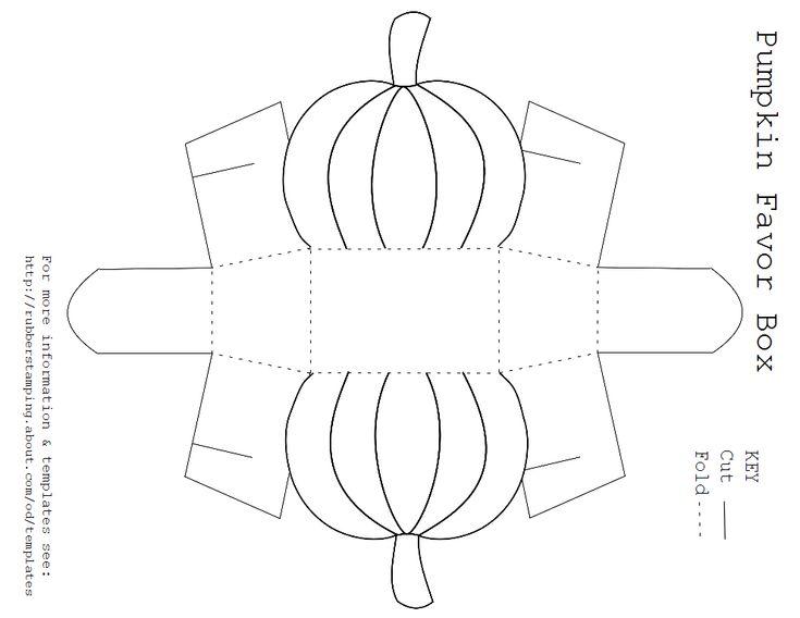 Pumpkin box template