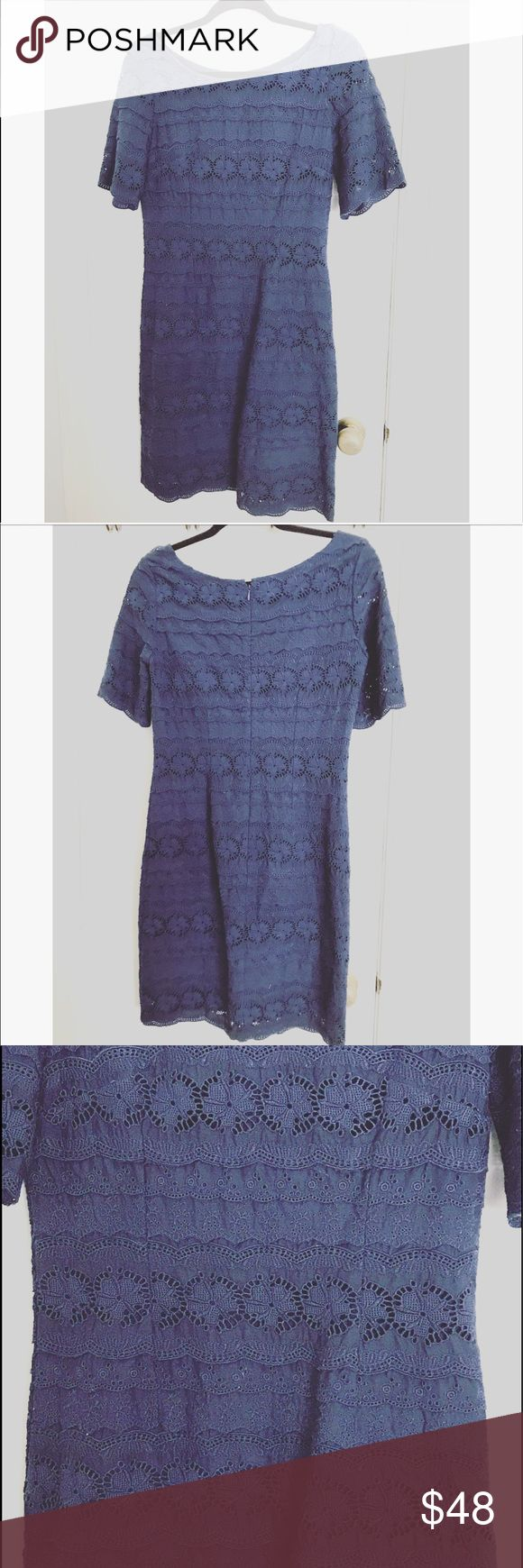 {Banana Republic} lace crochet dress Great condition . Size 2 . Such a cute flirty and feminine dress, gives such a bohemian feel to it! Your go to weekend dress. Zips in the back for closure. 050517559 Banana Republic Dresses