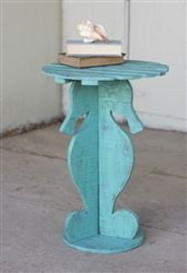 Brighten up your beach house with this grest Wooden Seahorse Table! Perfect accent piece in one of our favorite colors! (available at www.paigesplace.com)