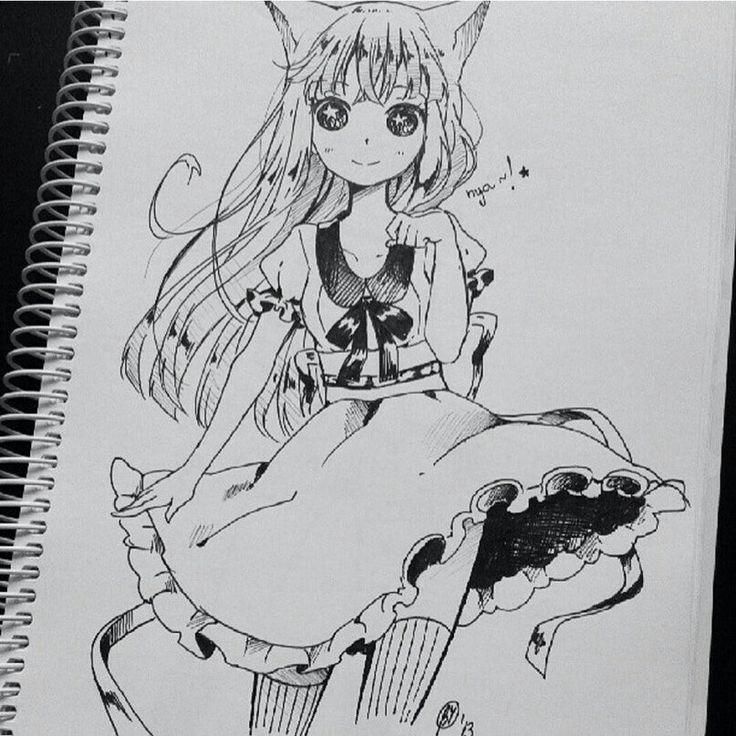Аниме манга нарисовано