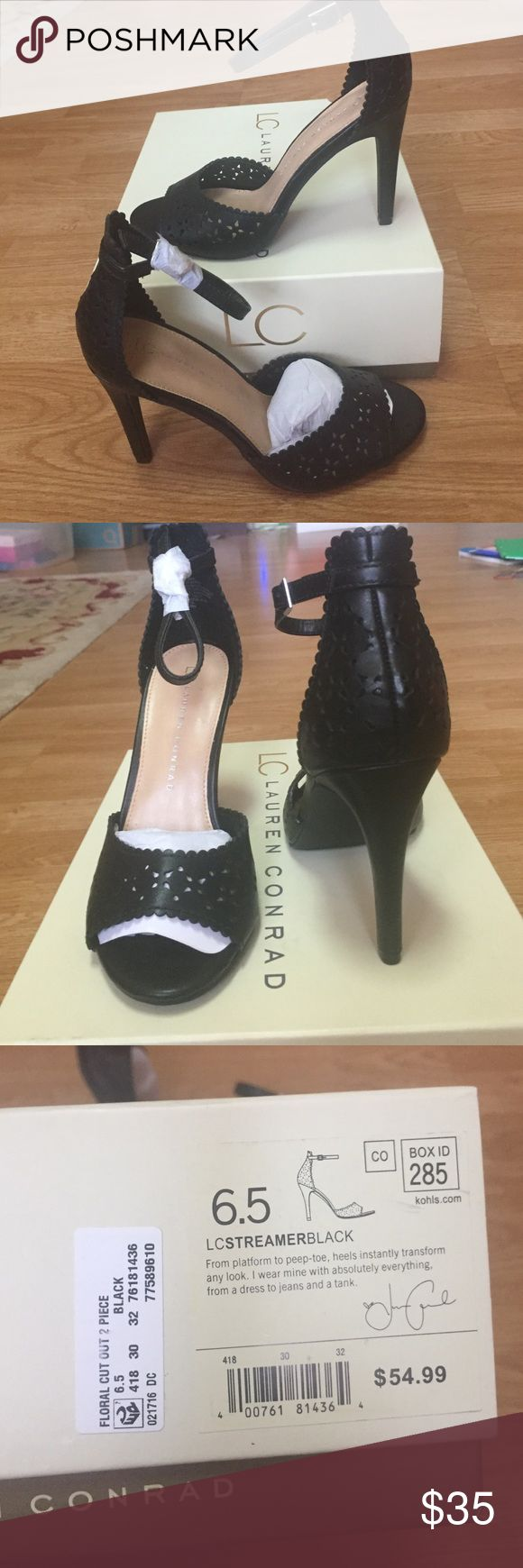 "NWT LC Sexy Pumps Super cute and sexy perforated design pumps. Perfect to wear dressy or in jeans. 4"" heel. LC Lauren Conrad Shoes Heels"