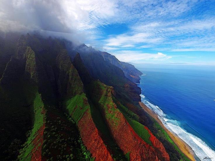 Unreal! Kauai/ Hawaii: Beaches, States Parks, Hawaii Travel, Mountain Range, Kauaihawaii, Aerial Photography, Kauai Hawaii, Doce Paul, Hawaiian Islands