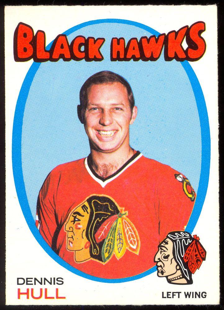 1971 72 Topps 85 DENNIS HULL NM CHICAGO BLACK HAWKS HOCKEY CARD #ChicagoBlackhawks
