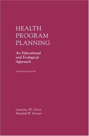"""Health program planning : an educational and ecological approach : 4th ed."" / Lawrence W. Green, Marshall W. Kreuter. Boston [etc.] : McGraw-Hill, 2005. Matèries : Educació sanitària; Promoció de la salut. #nabibbell"