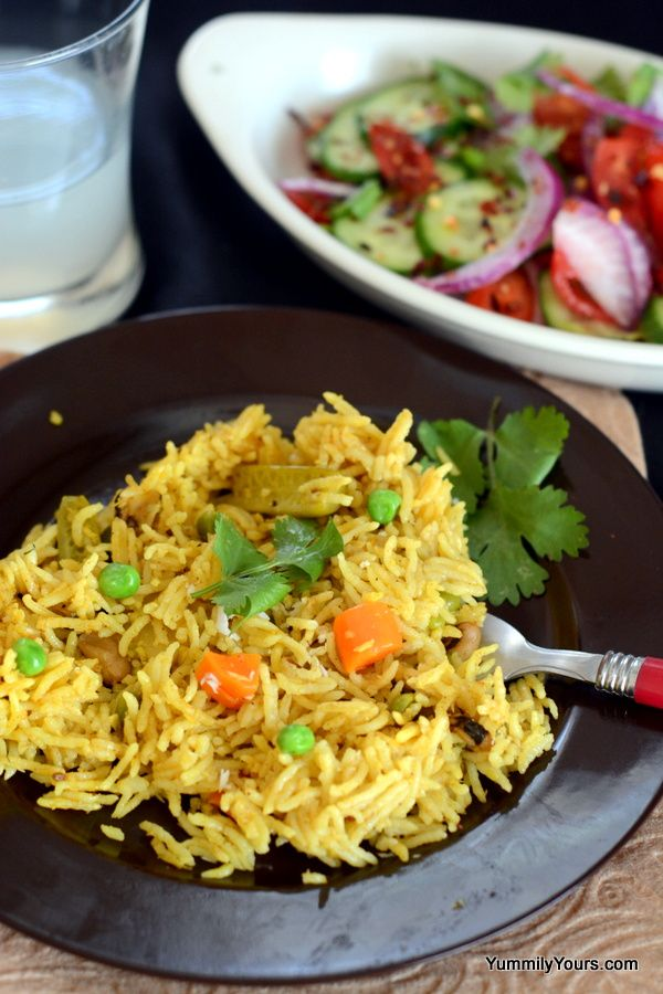 1 skillet, 5 steps Turmeric and Garam Masala rice (& we thought Indian Cooking was tough!!)- Stepwise Pictures included