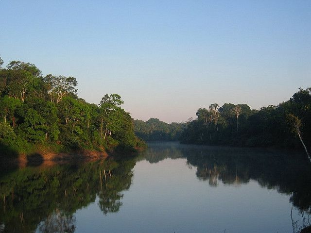 kayak and camp in the Amazon