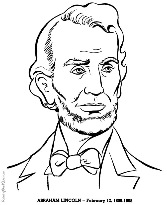 Abraham Lincoln history coloring pages for kid 053
