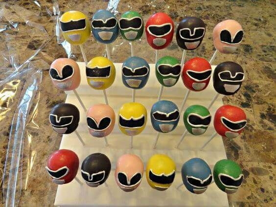 These Power Rangers cake pops are delightful and delicious.