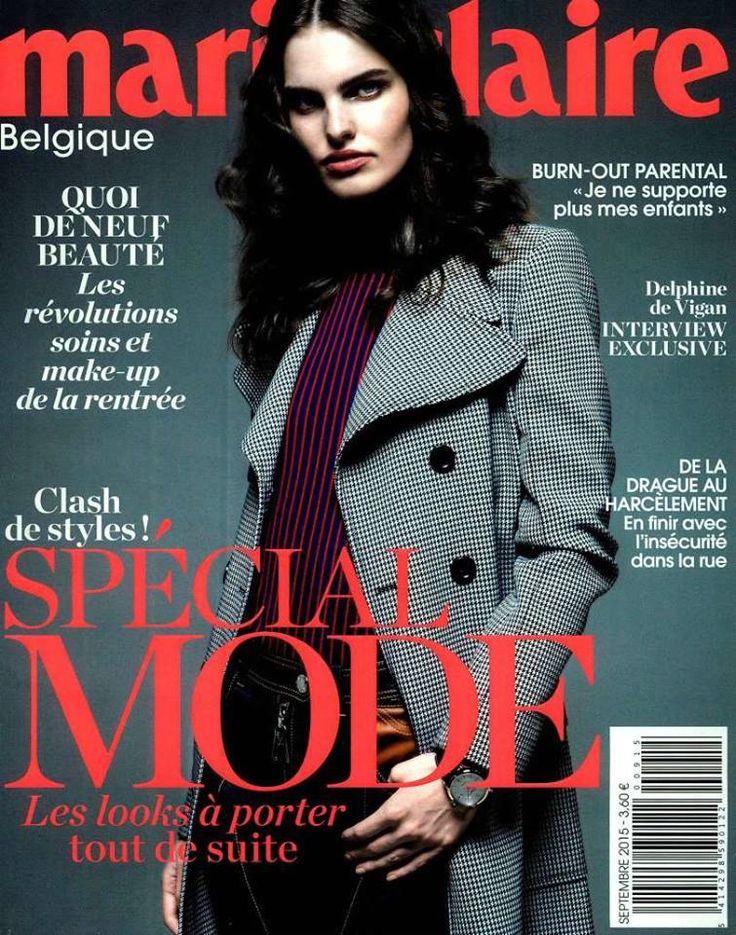 Dark chic #Anneclaire on Marie Claire België