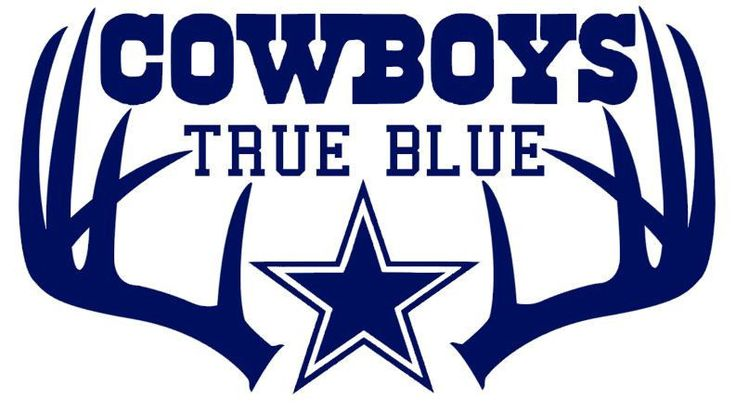 Deer Hunting Antler Truck  Decal Dallas Cowboys True Blue10 x 18 inches