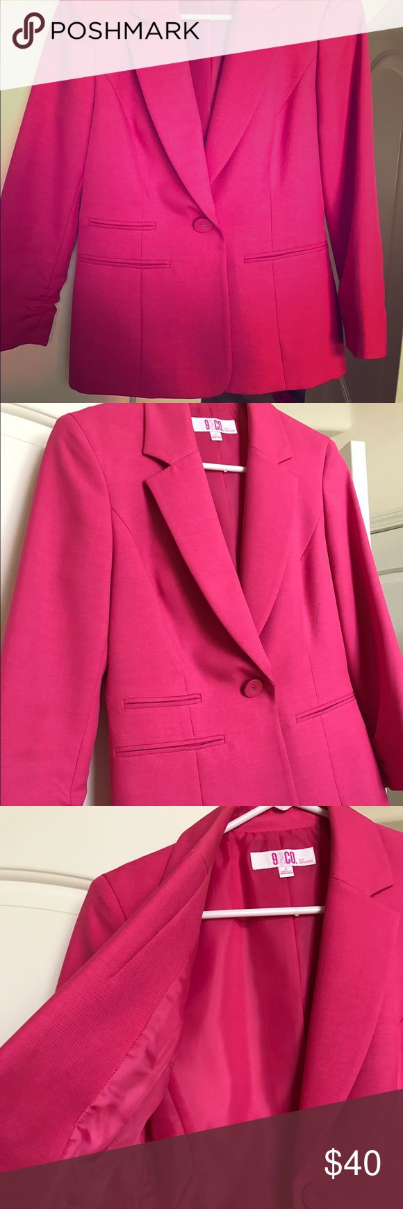 Hot pink blazer! Blazer sale!! Hot pink blazer perfect for the office! Jackets & Coats Blazers