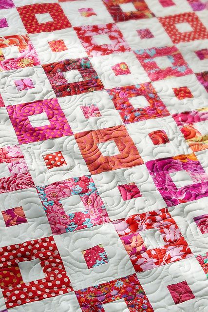 Love the contrast in colors and quilting technique - check out site/favorites. -no pattern
