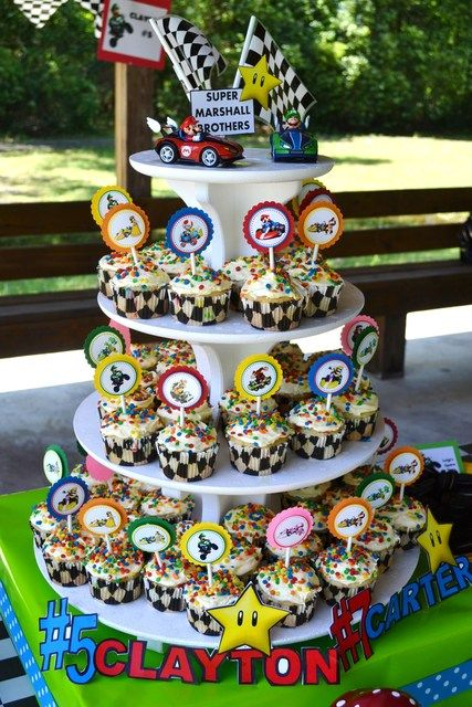 "Photo 1 of 52: Super Mario Brothers / Mario Kart Wii / Birthday ""Super Marshall Brothers Birthday Party "" 