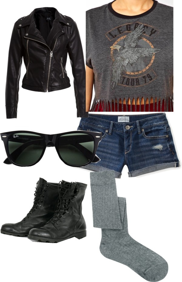 """Biker Style"" by meg-sims ❤ liked on Polyvore"