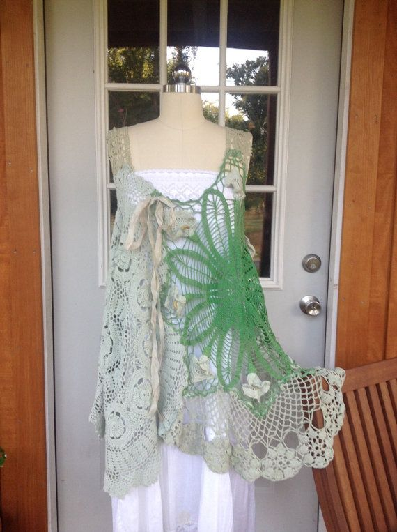 Luv Lucy Crochet Tunic ... Lillies by LuvLucyArtToWear on Etsy