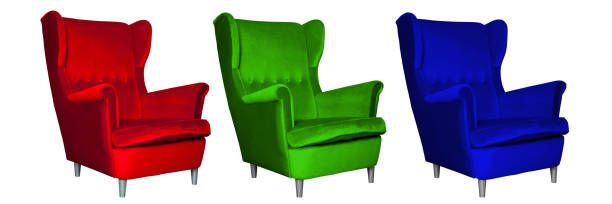 red green and blue chair rgb model