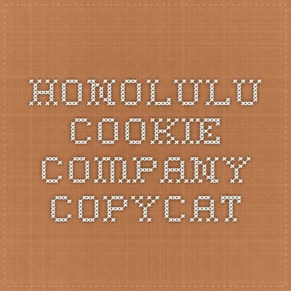 Honolulu Cookie Company Copycat