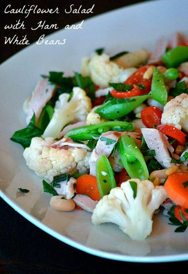 Cauliflower Salad with Ham and White Beans