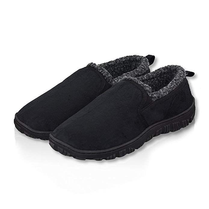 808c1c4657 LA PLAGE Men's Swiss Plush Advanced Indoor/Outdoor Anti-Slip Moccasin House  Slippers for Men Review
