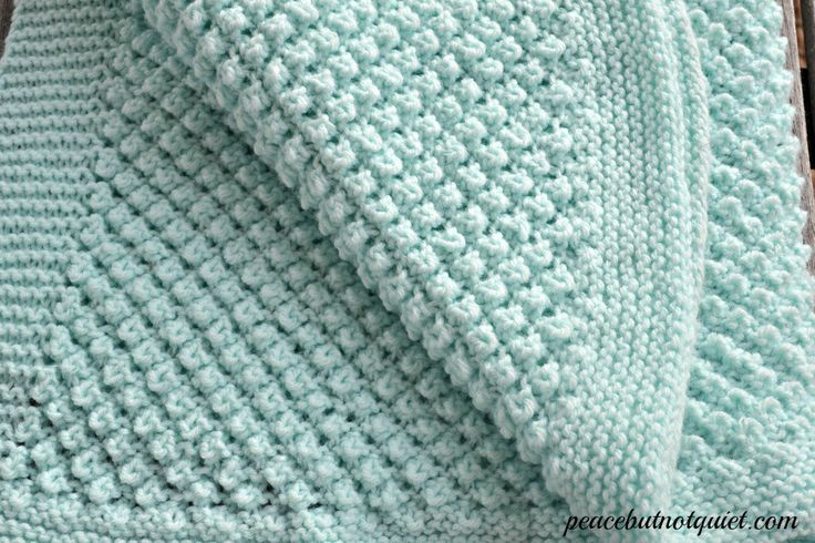 The popcorn baby blanket -- one of our easy knitting patterns that make an adorable baby blanket that's sure to be treasured for a long time!