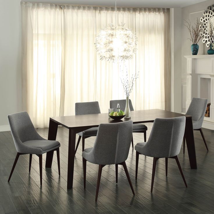 A Contemporary Dining Room Set With Seating Focused On Comfort Will Give Your