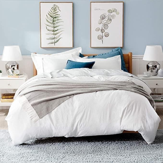 Duvet Cover Set King Size With Zipper Closure Ultra Soft 3 Pieces Duvet Cover Sets White Duvet White Duvet Covers