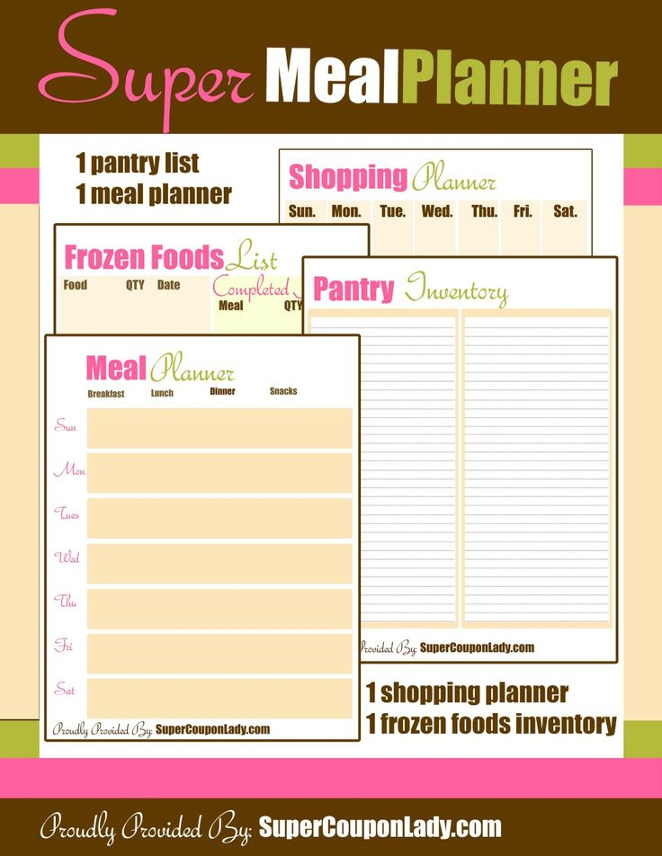 Printable Meal/Shopping/Kitchen Organizer Planner http://www.supercouponlady.com/2013/12/printable-mealshoppingkitchen-organizer-planner.html/