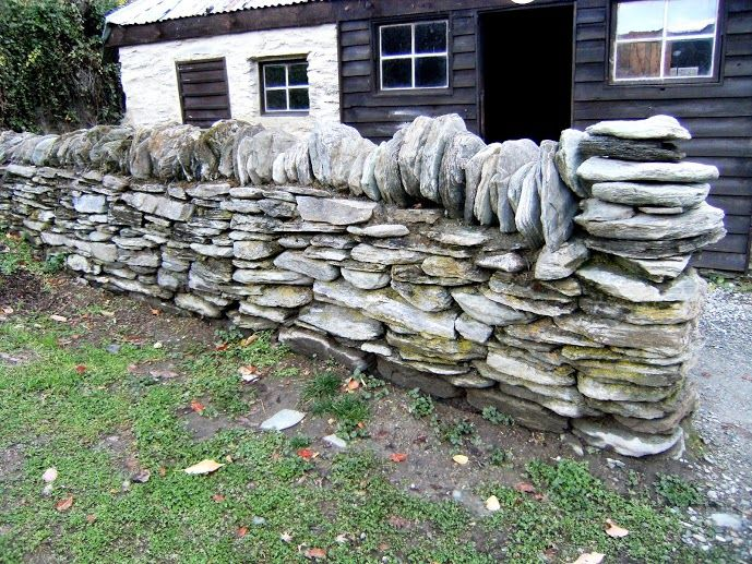 Fence made with local stone