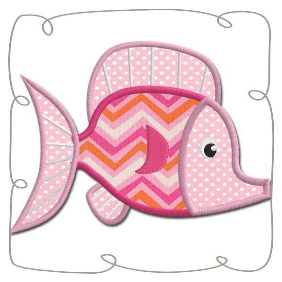 Fish Applique Machine Embroidery design Pattern-INSTANT DOWNLOAD