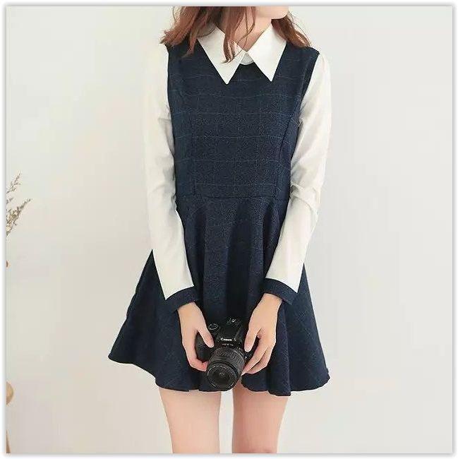 Aigan - Mock Two-Piece Dress
