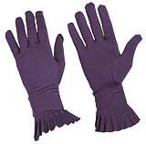 Purple Gloves with Ruffles around wrist - $15.75 at The Purple Store
