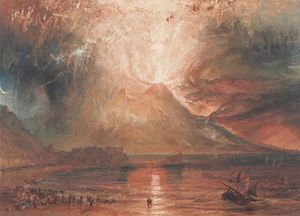 Mount Vesuvius in Eruption, 1817  Joseph Mallord William Turner