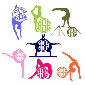 Gymnastics Girl Performance Poses Round Circle Frame Monogram Cuttable Design Cut File. Vector, Clipart, Digital Scrapbooking Download, Available in JPEG, PDF, EPS, DXF and SVG. Works with Cricut, Design Space, Sure Cuts A Lot, Make the Cut!, Inkscape, CorelDraw, Adobe Illustrator, Silhouette Cameo, Brother ScanNCut and other compatible software.