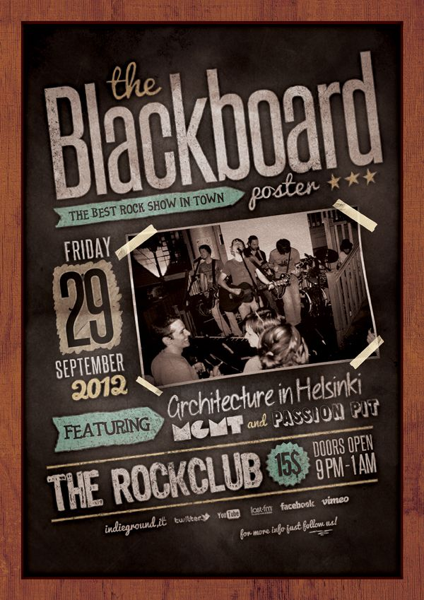 Blackboard Poster by Roberto Perrino, via Behance