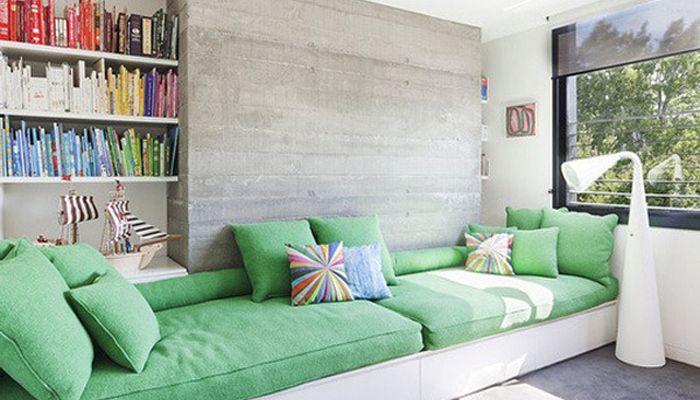 Sofá construído: de alvenaria, madeira ou outros materiais - KzaBlog