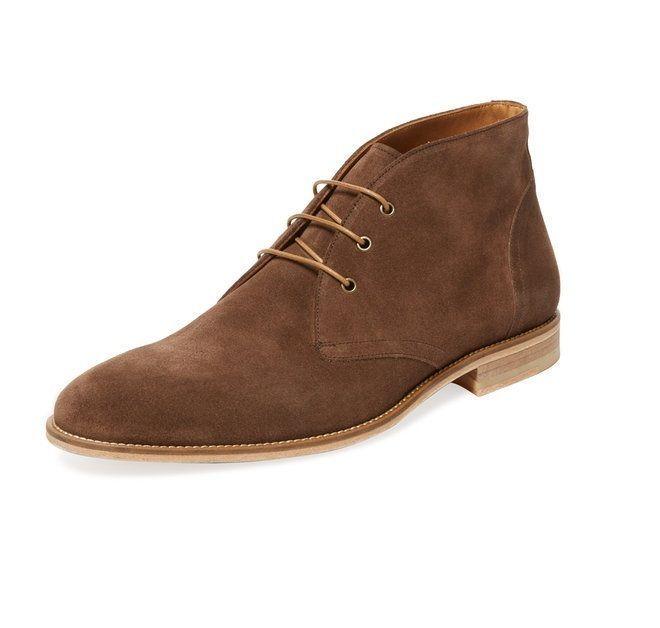 Handmade men's brown Chukka boot Men brown suede boot Mens ankle suede boot #Handmade #Ankle