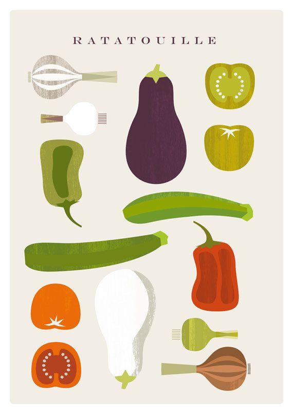 RATATOUILLE poster  Original ILLUSTRATED Digital by MandarinaPrint, $5.00