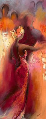 Tanzabend I Art Print by Elena Filatrov