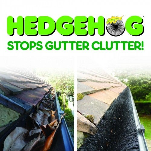 The amazing, award winning Hedgehog Gutter Brush is a fantastic product designed to keep gutters and drains clear of leaves, twigs, sticks, birds etc. The Hedgehog Gutter Brush is simple to fit and lasts for years! Just pop it into clean gutters and drains and problems with blocked rain systems are solved immediately.